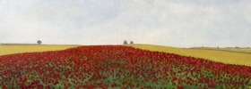 Field of Poppies – Oil Painting
