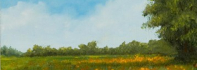 Floral Field – Oil Painting