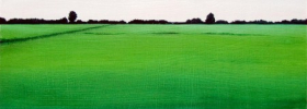 Green Landscape – Oil Painting
