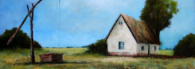 Old Farm in the Fields – Oil Painting