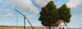 Old Farm House – Oil Painting