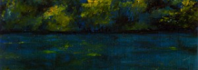 Tree on a Lake – Oil Painting
