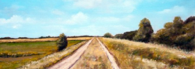 Country Road near Begec – Oil Painting