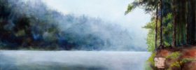 Misty River – Oil Painting on Canvas