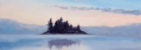Misty Island  –  Oil Painting