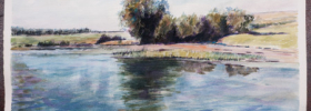 Lake Scene  – Watercolor Painting