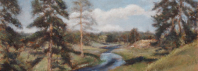 Mountain Stream – Oil Painting