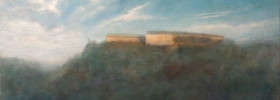Misty Fortress – Oil Painting