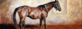 Inscription of a Horse – Oil Painting
