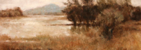 Distant Mountains – Landscape oil painting