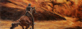 Horse Rider – Oil Painting