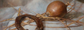 Horseshoe and Onion – Still Life Oil painting