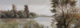 By the River 2 – Landscape Oil painting