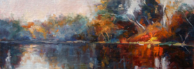 River Reflections – Landscape Oil painting