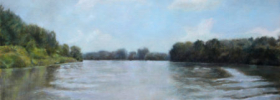 On the River – Landscape Oil painting