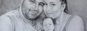 Family Portrait – Commissioned Portrait Drawing
