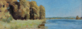 Boat by the River – Landscape Oil Painting