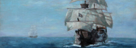 Sailing Ships – Seascape Oil Painting