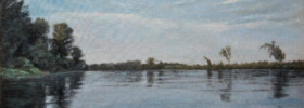 River Tisa – Landscape Oil Painting