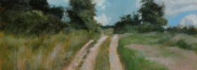 Rural Countryside Road – Landscape Oil Painting