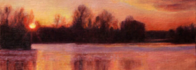 Sunset on the River – Landscape Oil Painting