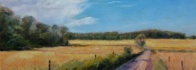 Through the Country Fields – Landscape Oil Painting