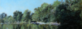 By the River – Landscape Oil Painting