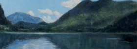 Mountain Lake – Landscape Oil Painting