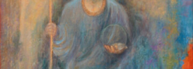 Precious Little Angel – Symbolic Fantastic Oil Painting