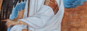 White Angel – detail – Oil Painting