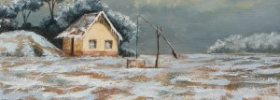Snowy Farm House