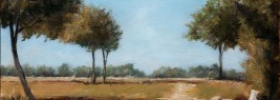 Country road with Trees – Oil Painting