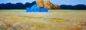 Blue Farm – Oil Painting