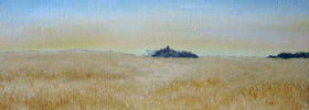 Distant farm House – Oil Painting