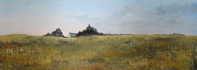 Farm House in a plain – Oil Painting