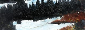 Winter Landscape – Oil Painting