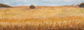 Farm in a Field – Oil Painting