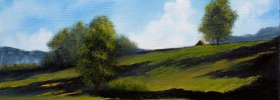 Green Hills – Oil Painting
