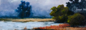 By the Lake – Oil Painting