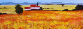 Tuscan Landscape – Oil Painting