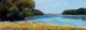 Forest By the Lake – Oil Painting