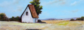 Blue Farm House – Oil Painting