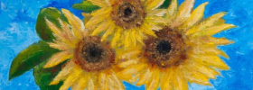 Sunflowers – Oil Painting