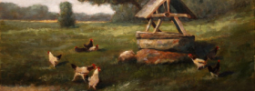 At the Well – Oil Painting