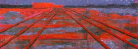 Railroad into the Dusk – Oil Painting