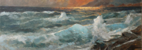 Eventide Sea and Waves – Oil Painting