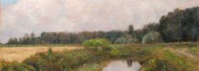 Country Pond – Landscape Oil Painting
