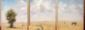 Country Triptych – Landscape Oil painting