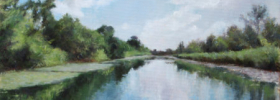 Canal Reflections – Landscape Oil painting