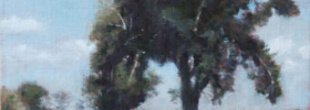 The Tree in a Field – Landscape Oil painting